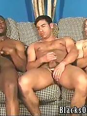 This gorgeous threesome ends up by some dirty handjob