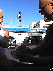 Blonde boy makes him cum