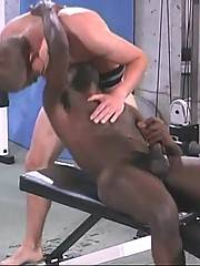 Horny black guy and his white friends give awesome oral joy to their eager dicks.