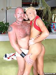 Muscle Bear Daddy  Tom Southern fucks Twink hottie Lexx Parker right up his tight ass!