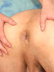 Cute Euro amateur can`t hold the cum inside after giving head and taking the rectal pounding