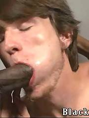 White guy slurps two black cocks with all his diligence.