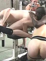 In this threesome two guys taste cocks, but only one gets fucked and takes a nasty anal cumshot