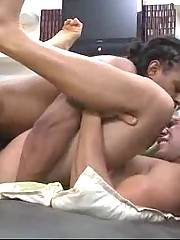 Watch this huge erect black cock penetrating tight white ass.