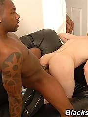 Gay White Sucks & Fucks Black Dick Eats Cumxxx