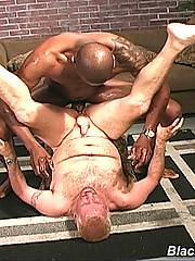 Gay Blond Sucks Black Dick & Assfucked Cum Facialxxx