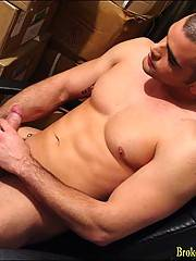Hot straight boy gets his stuff out of storage, naked