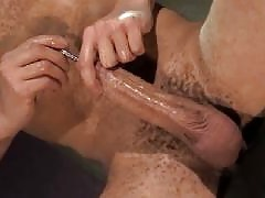 Hot straight boys wank off together and fuck