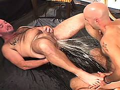 If you like a little bit of water in your sports or maybe some ass with your beer, than this next sleazy vid is right up your alley. After some oral foreplay, J...