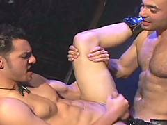 Damien Drake and Ivan Andros. Talk about a pairing--both men are world class beauties, dark and stunning, muscled to the point of