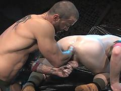 Part two of Junior's extreme encounter with hot red-head Ryan sees Stellano stretch the young studs hole with his bare fist, sinking it deeper and deeper. Stel...
