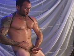Italian stud Chuck DiRocco, has more tattoos, more attitude, more cock, more spunk, more pecs, more abs, more ass--more everything-- than anyone we have ever fi...