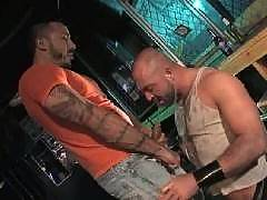 There's hardcore gay fucking, and then there's the kind of BDSM hardcore action where you think that everyone involved must have taken a hospital trip afterwards. This would be that kind of crazy action, with these guys teaming up on each other to inflict