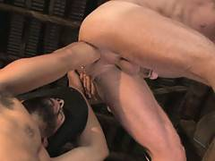 Don't get confused by the barn-setting, it's not someone helping a cow give birth in this video, rather it's Antonio sticking his fist up Rick's well-deserving hole for pure pleasure. After fingering the sweet ass, Antonio gets his muscled forearm into ac