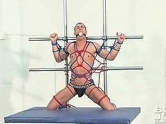 Hot Gay Bondage Scenes with Muscle Bound Jocks