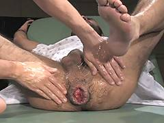 Boyhous goes to the doctor's office to have his asshole checked out. Dr. Kain obliges by doing a full examination. He lubes up his hand and proceeds to insert ...
