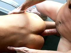 Best buddies Mitch and Nick head home from the beach to sort each other out. Little Mitch gets rooted by the hunky Aussie  Greek Nick, who in turn gets we...