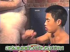 Asian boy treats his older lover