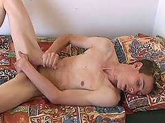 Rick is already on the bed naked at the beginning of this vid - his long, lean body and delicious cock on full display. He gives you a hot, sensual jerk off, le...