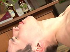 Antonio Squillart is one hot, young man. He kisses Diego Dal Silvia deeply before making his way down those abs to his fat cock. Diego allows himself the pleasu...