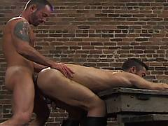 Robert Black and Bryce Pierce are perhaps one of the classic Stallion pairings - here a hot fuck scene is peppered with a little bondage and bonused with a solo...