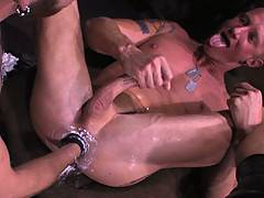 Mason Garet takes a true tour of duty and serves his ass up to new recruit, fisting top Geoffrey Paine. Geoffrey's huge cock barrels down Masons hungry throat ...