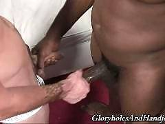 Glory Holes and Handjobs is about gay sex that takes place in public toilets and private apartments. You will witness gay glory hole adventures and gay handjob action. See as sexy white boys get dominated by black bastards. They will totally obey these po