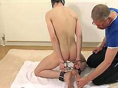 Our crew have kept Henderson Marron around so that they can play games with him again. This time Henderson is subjected to having his feet licked, tickled and punished before Sebastian moves on to some cock torture. Despite fighting to escape, he never ma