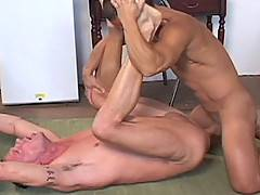 Stud, Asian daddy Brian Le, with his muscular body and big cock is paired with tattooed Jedd Pisston. Brian fucks Jedd bareback, pisses in his mouth and then fu...