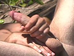 Jason Crew takes to the beautiful outdoors of Hawaii for his solo jerk-off video. The light hits that smooth, toned body perfectly as he whips out that mammoth ...
