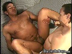 Bareback gay porn with huge black cocks and white studs, twinks, jocks and bears engaging in interracial xxx.  White studs receiving internal anal cumshots and cum facials from huge black studs with uncut big dicks.
