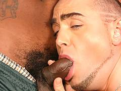 Interracial Gay Threesome Assfucking  Cumxxx