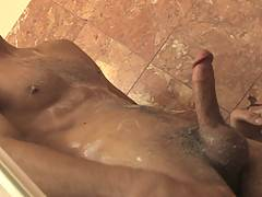 Shaggy-haired Dempsey will have you begging for more after his solo video. The skinny spunk shows off his meat and that light spattering of chest hair across hi...