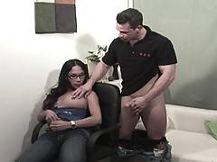 There was only one way to tame our big-titted tranny Dr Nina, and we needed muscle-man Jeremy to get that insatiable appetite under control. He comes in for a session with his tranny psychologist and is going to leave with a few more confusing experiences