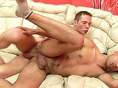 Swarthy hairy-ass lad and his horny lover in 4 HD gay fuck and anal creampie videos