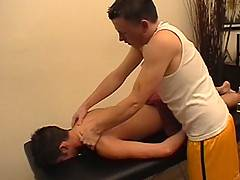 A massage turns into a twink fuck fest