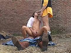 Naive country boy gets nothing but a hard double-team fuck from two ass-hunting gay cowboys