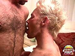 BearsSeduceTwinks.com has mostly hairy older men doing younger smooth boys. Sometimes, though, a twink tops a bear bottom.