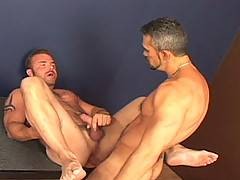 Butch Eric York and Tony Serrano start by making out for a bit. Eric is soon on his knees deep throating Tonys big piece like it is the last cock hell ever get....