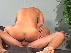 Dominik Rider is lying on a bed  when older Justin Santiago comes up and starts sucking his cock. Daddy Santiago then shoves his thick cock into his mouth getti...