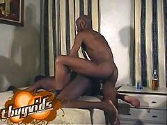 Black fuck buds getting together for some hardcore black gay big cock sex