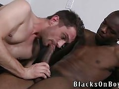 BlacksOnBoys.com contains interracial gay bareback sex videos and movies and pics.  You will see bareback gay porn with huge black cocks and white studs, twinks, jocks and bears engaging in bareback interracial xxx.  White studs receiving internal anal cu
