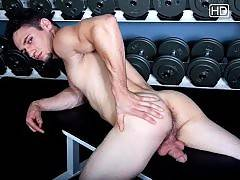 Richie Serrato shows off every inch of his smooth jock muscle and big huge cock.