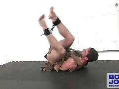 Hot Gay Bondage Scenes with Muscle Bound Jocks