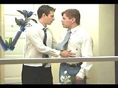 Marcus and Dylan throat-fucking each other on their 1st wedding anniversary