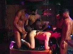 Five black men with big cocks gangbanged sugar guy