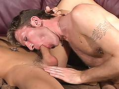 Two horny guys using each other and toys to get off