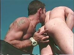 These hunky gay bears love to fuck ass nice and rough. You can see them slamming into each other in hours of ass pounding action. They have hairy muscle men who love to suck cock and give a slurpy rimjob to some assholes. If you like real masculine men wh