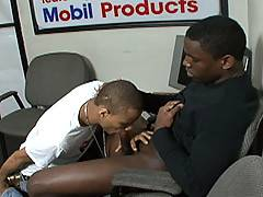 With his car well and truly totaled, DaBod has plenty of time to kill in the Club Auto Shop waiting room. Lucky for him Kidd is willing to help him pass the hours by submitting his ass to some heavy hitting from DaBod's hot cock. Still in possession of th