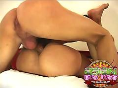 Asian boys fucking hard, pounding his tight butt